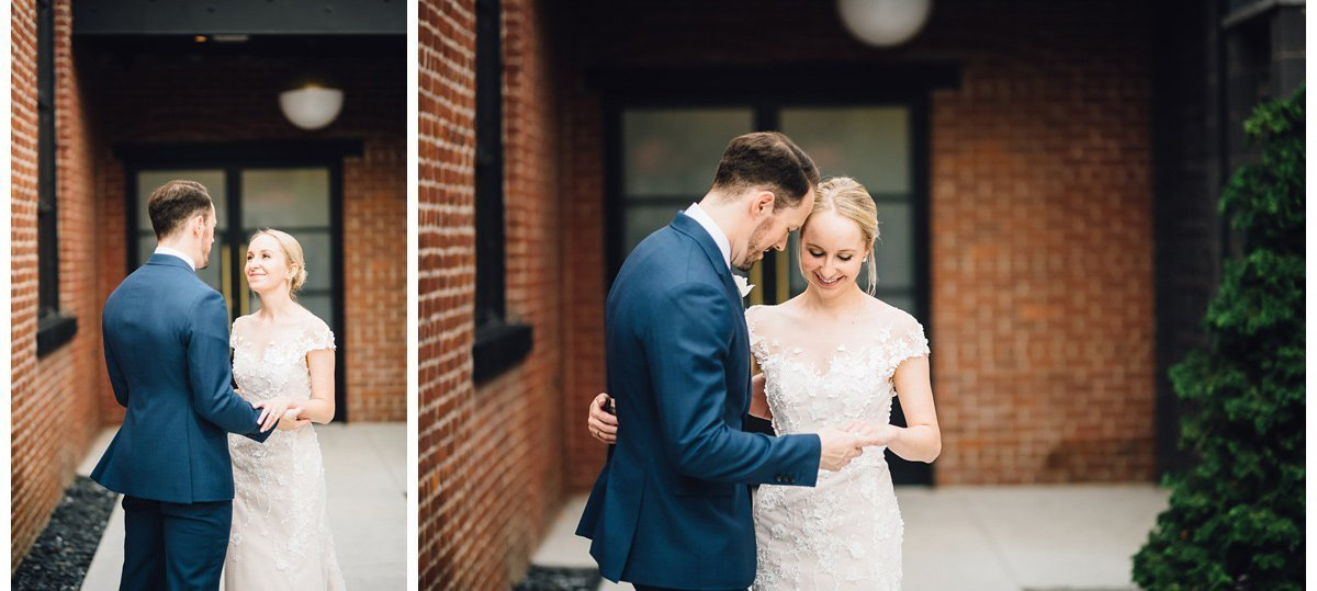 bride-groom-private-moment-3 Clementine Hall   Nashville Wedding   Rachel and Bobby