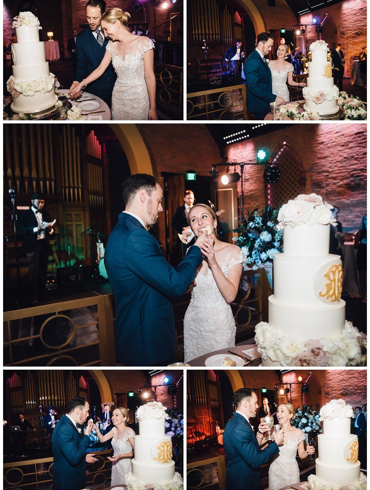 couple-feeding-cake-3 Clementine Hall | Nashville Wedding | Rachel and Bobby