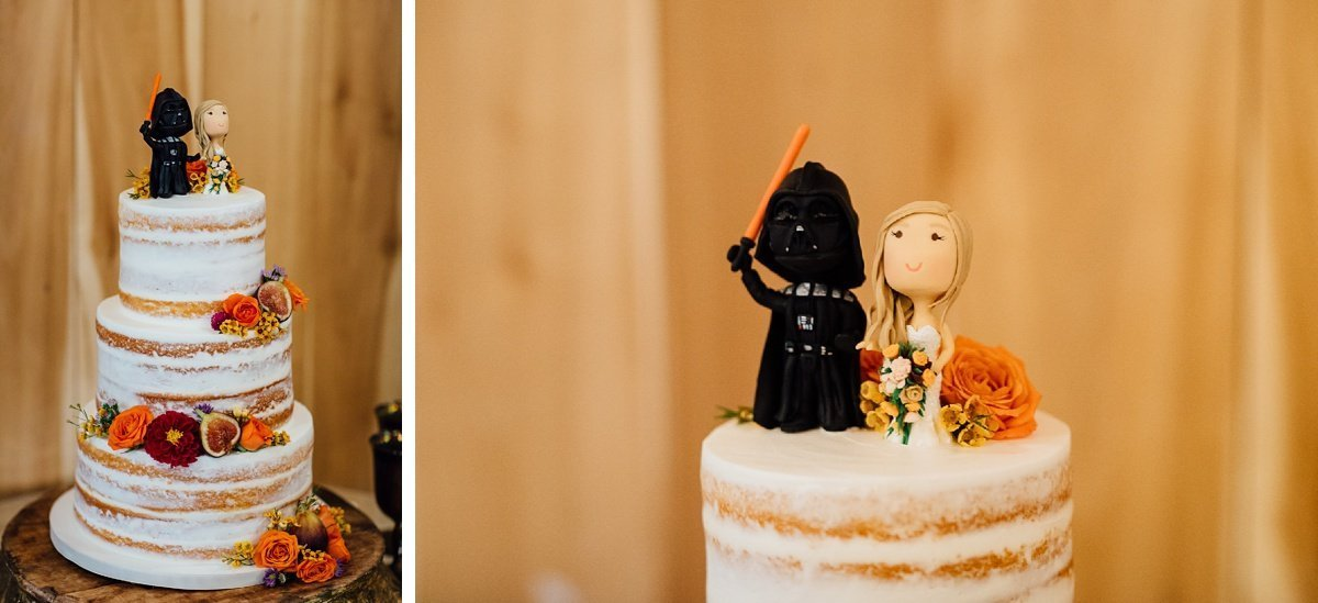 darth-vader-wedding-cake Allenbrooke Farms | Spring Hill TN Wedding | Sam and Kaleb