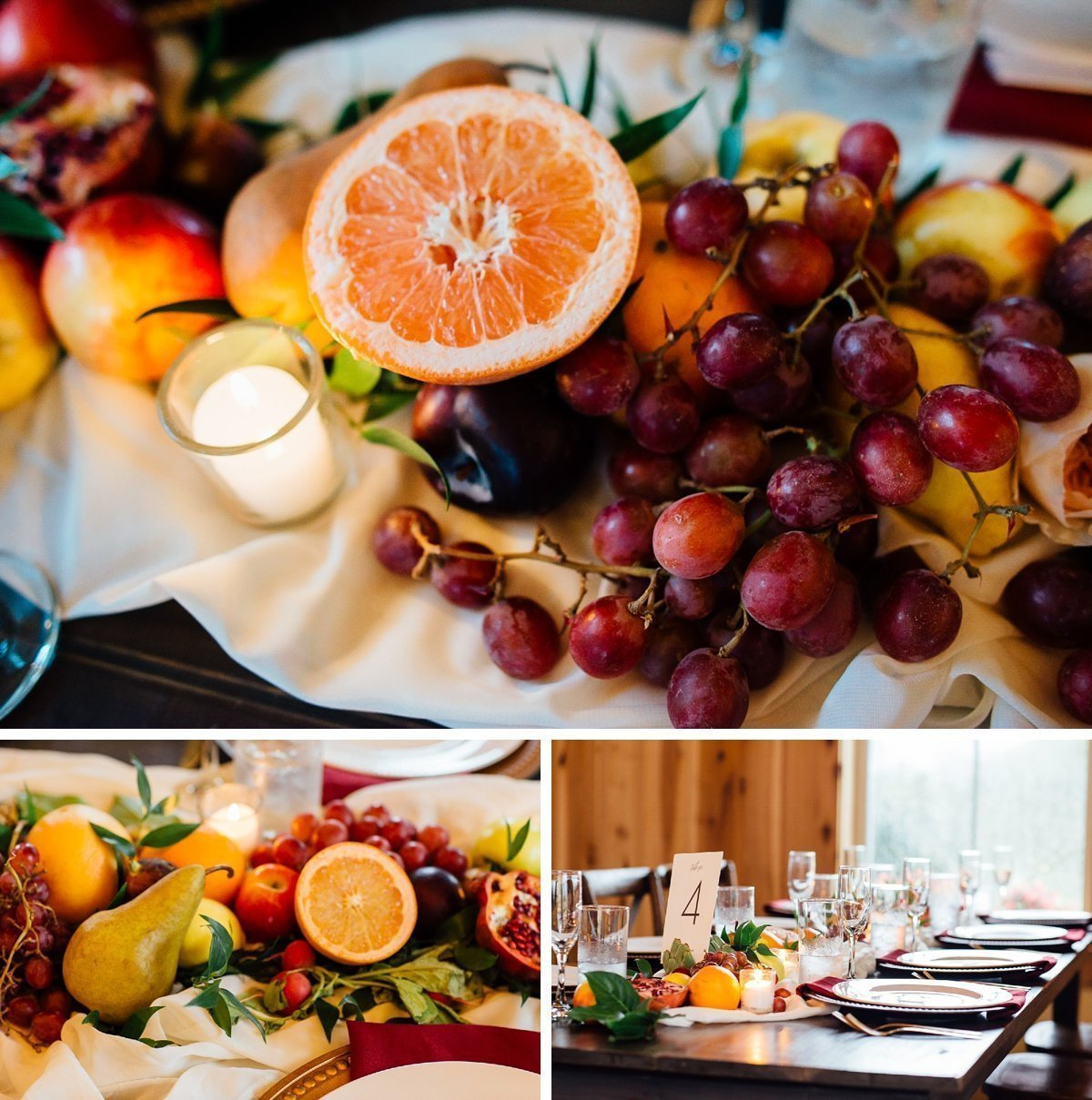 fruit-wedding-centerpieces Allenbrooke Farms | Spring Hill TN Wedding | Sam and Kaleb
