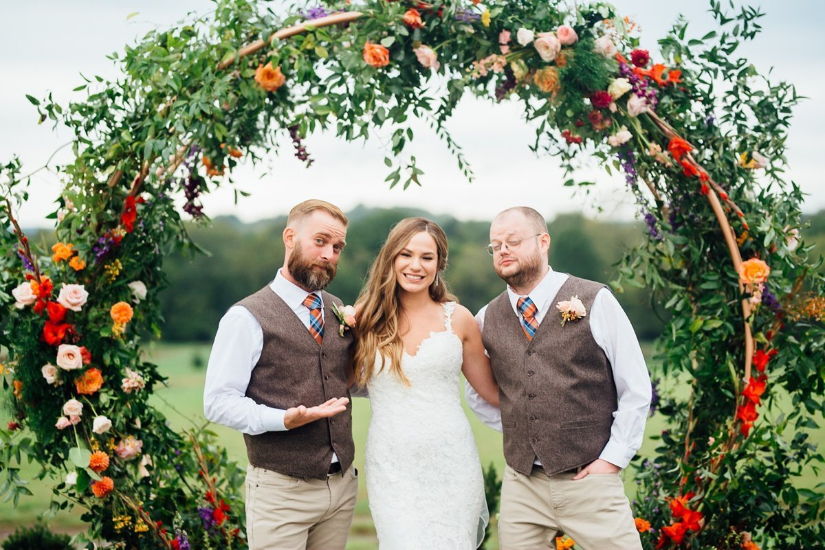 groomsmen-showing-off-bride Allenbrooke Farms | Spring Hill TN Wedding | Sam and Kaleb