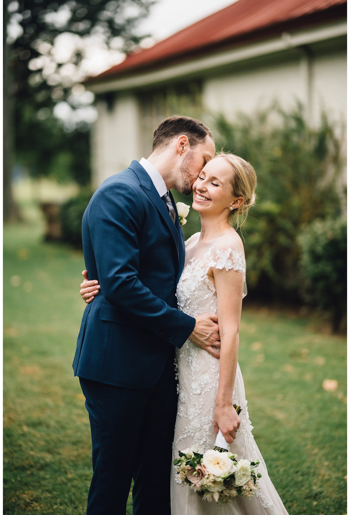 kiss-on-cheek-3 Clementine Hall | Nashville Wedding | Rachel and Bobby