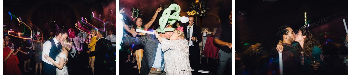 kissing-at-reception-2 Clementine Hall   Nashville Wedding   Rachel and Bobby