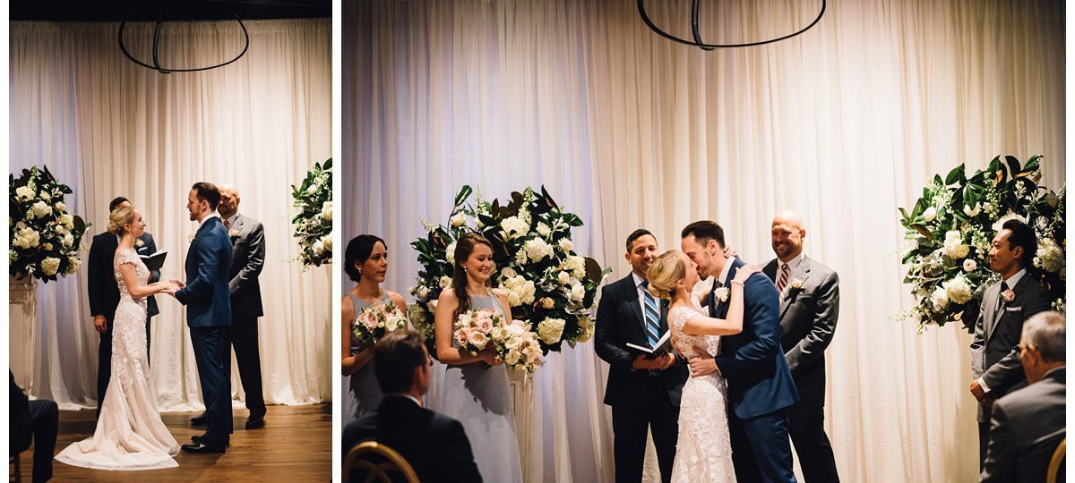 wedding-first-kiss-3 Clementine Hall | Nashville Wedding | Rachel and Bobby