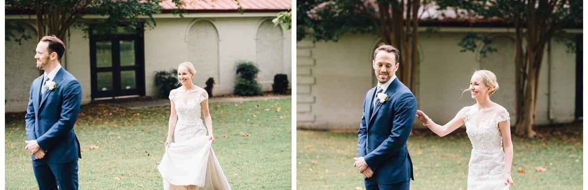 wedding-first-look-3 Clementine Hall   Nashville Wedding   Rachel and Bobby