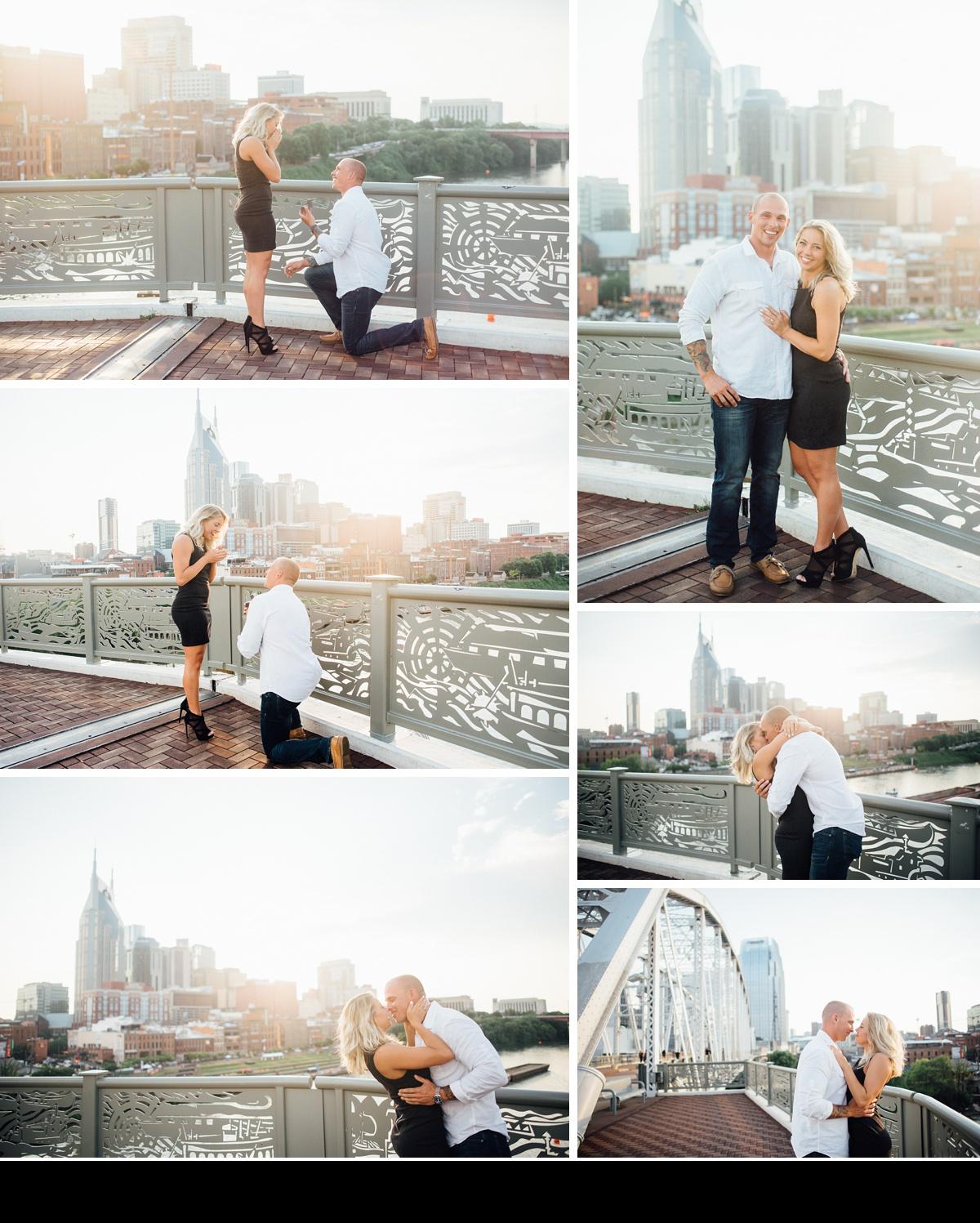 nashville-pedestrian-bridge-surpise-proposal-photographer Nashville Proposal Photographer