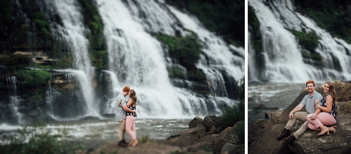 rock-island-waterfall-engagement Nashville Proposal Photographer