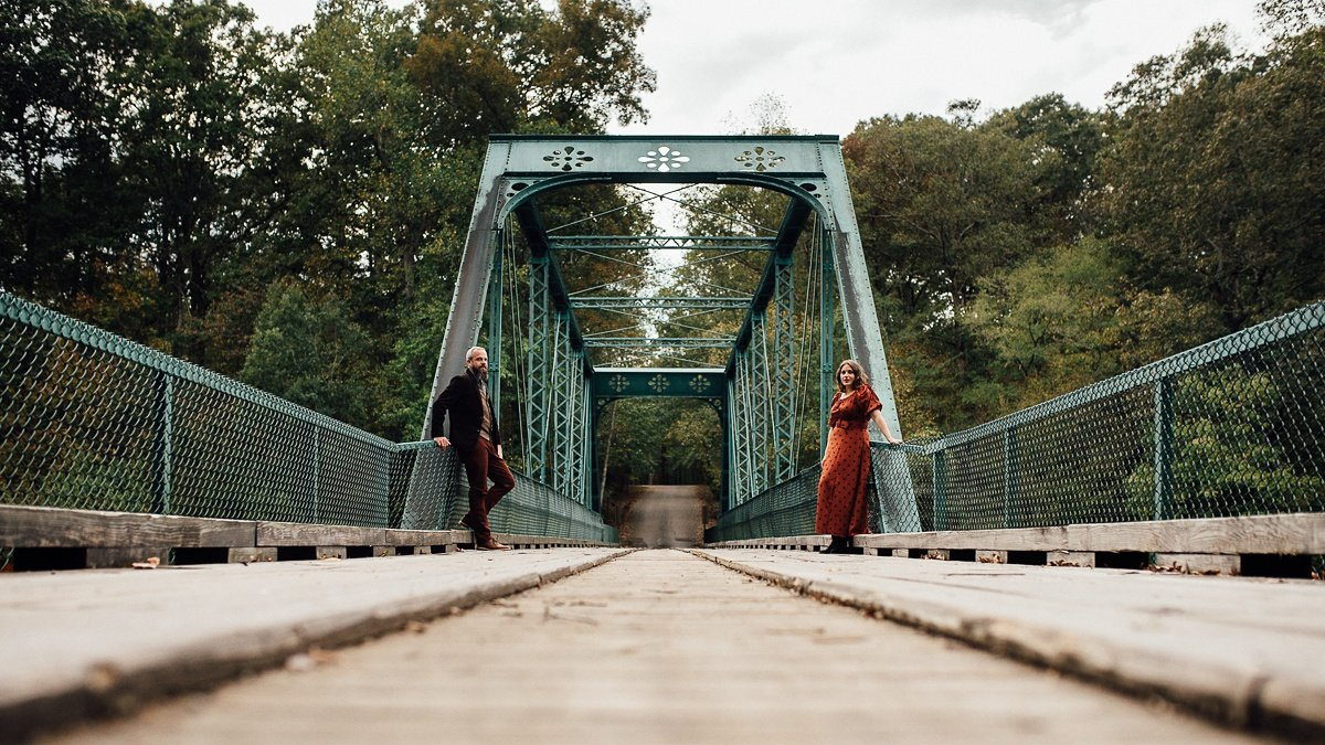 artistic-engagement-photography Woods and Waterfalls Engagement Session