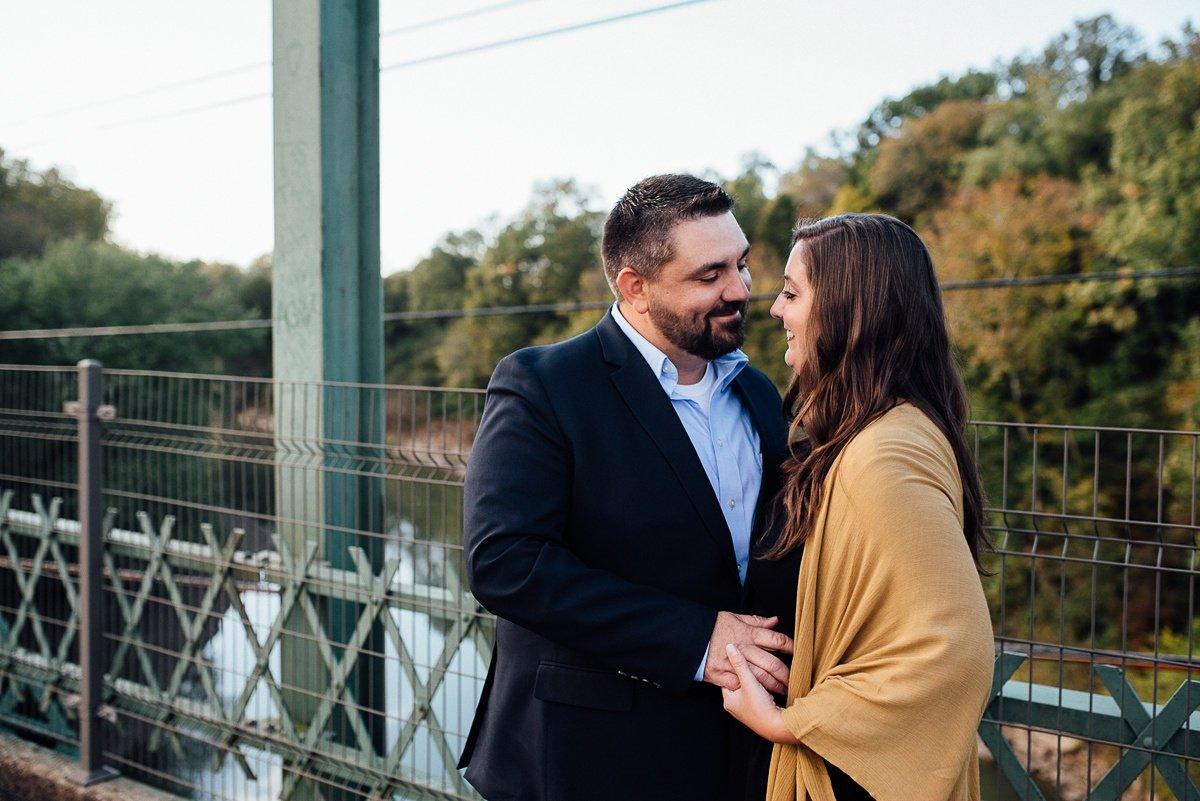 bridge-couple Percy Priest Lake Engagement Photos