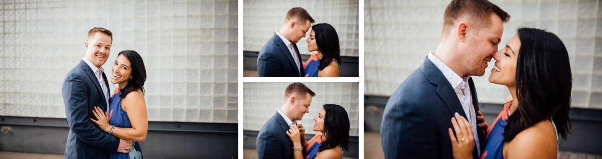 couple-close Downtown Nashville Engagement Session