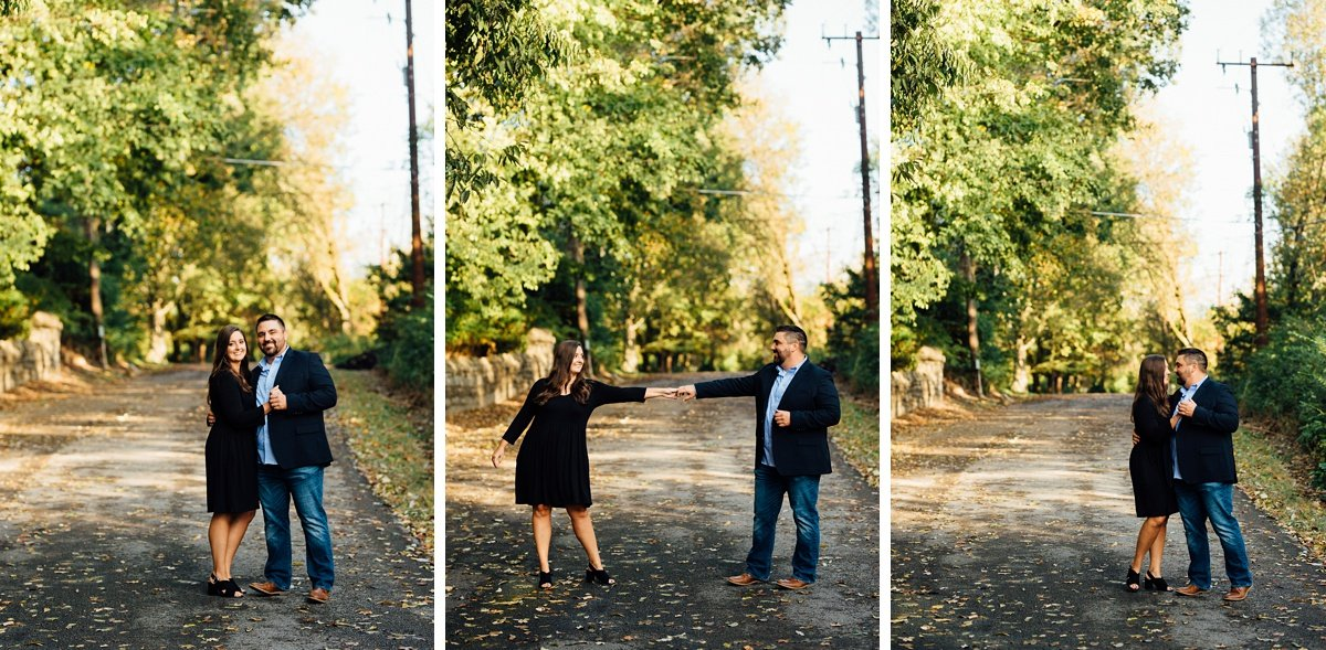 couple-dancing Percy Priest Lake Engagement Photos