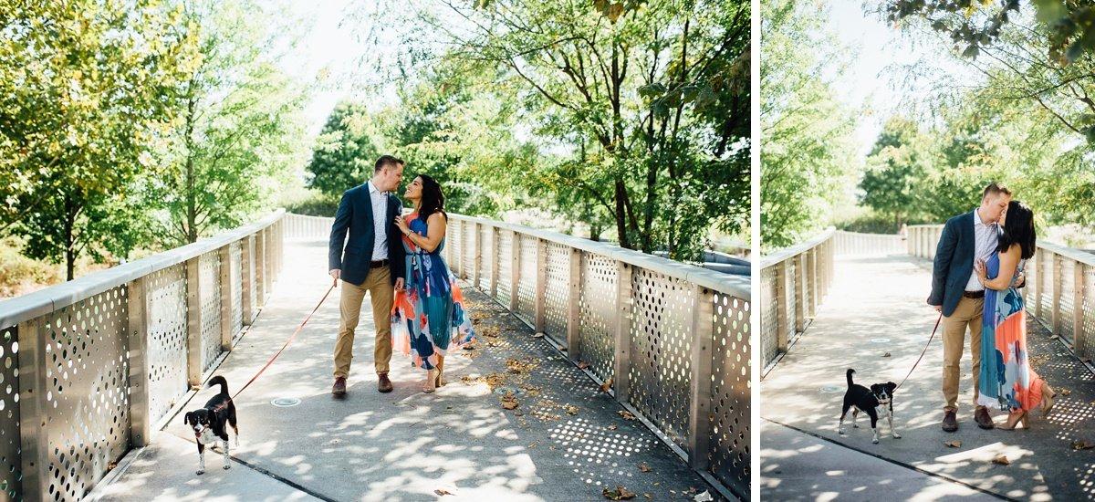 engagement-photo-walking-dog Downtown Nashville Engagement Session