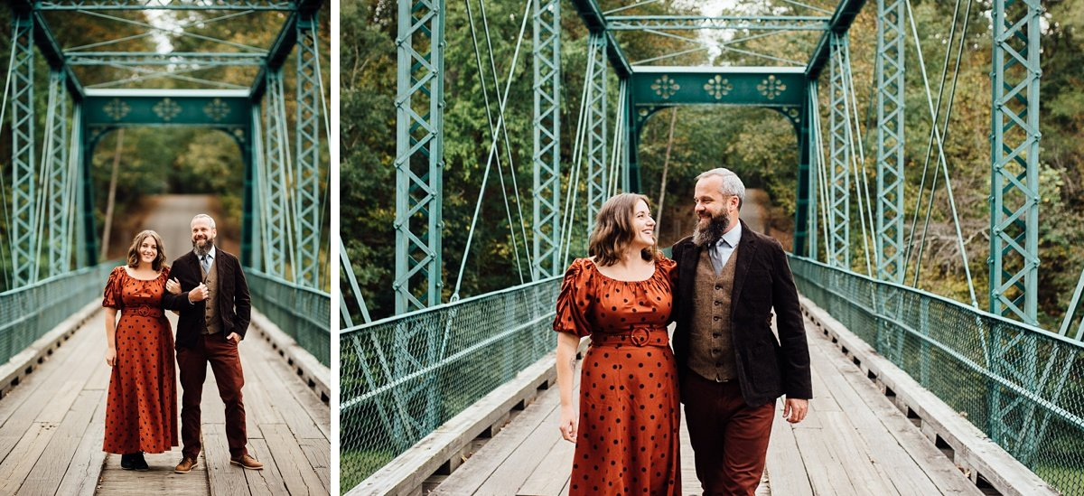 engagement-photos-on-bridge Woods and Waterfalls Engagement Session