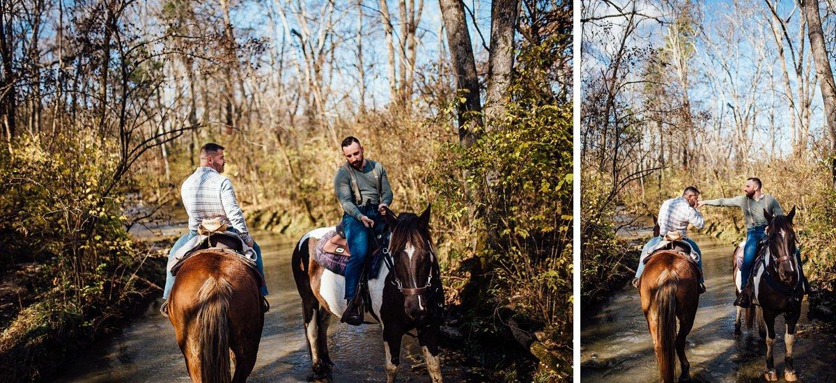 horses-in-creek-2 Horseback Engagement Session