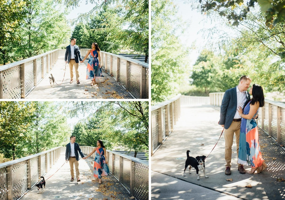 incorporating-dog-into-engagement-session Downtown Nashville Engagement Session