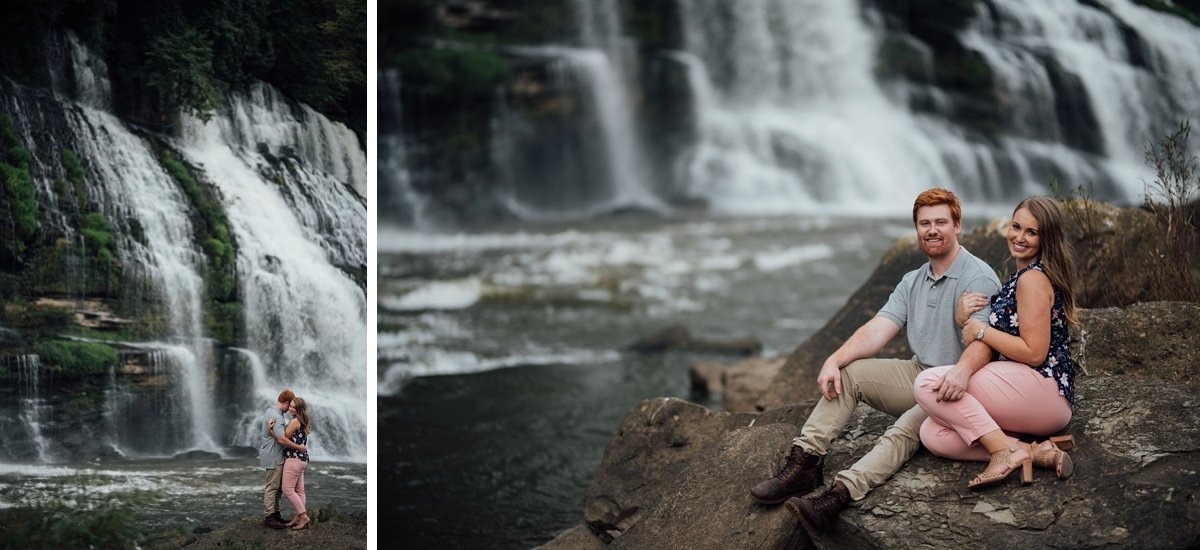 nashville-engagement-photos Rock Island Waterfall Engagement Session
