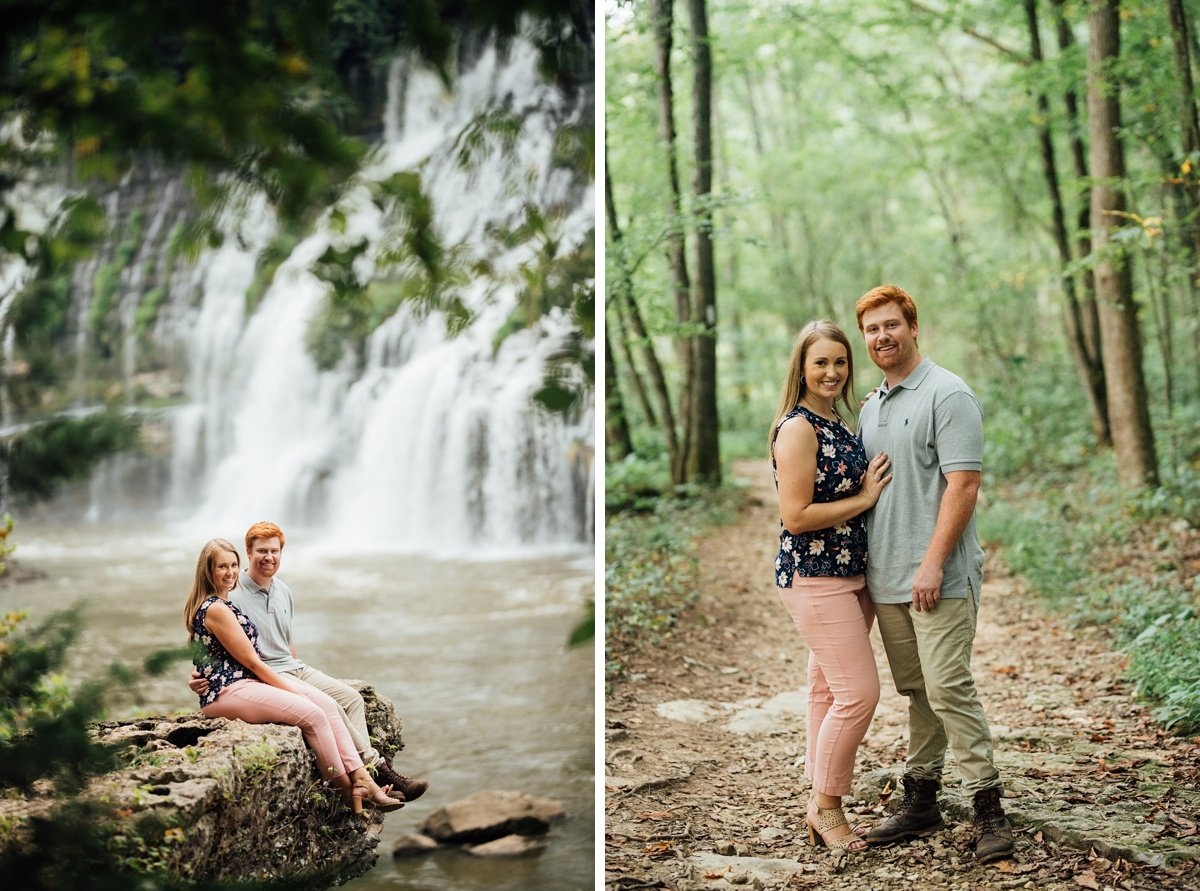 nashville-engagement-session Rock Island Waterfall Engagement Session