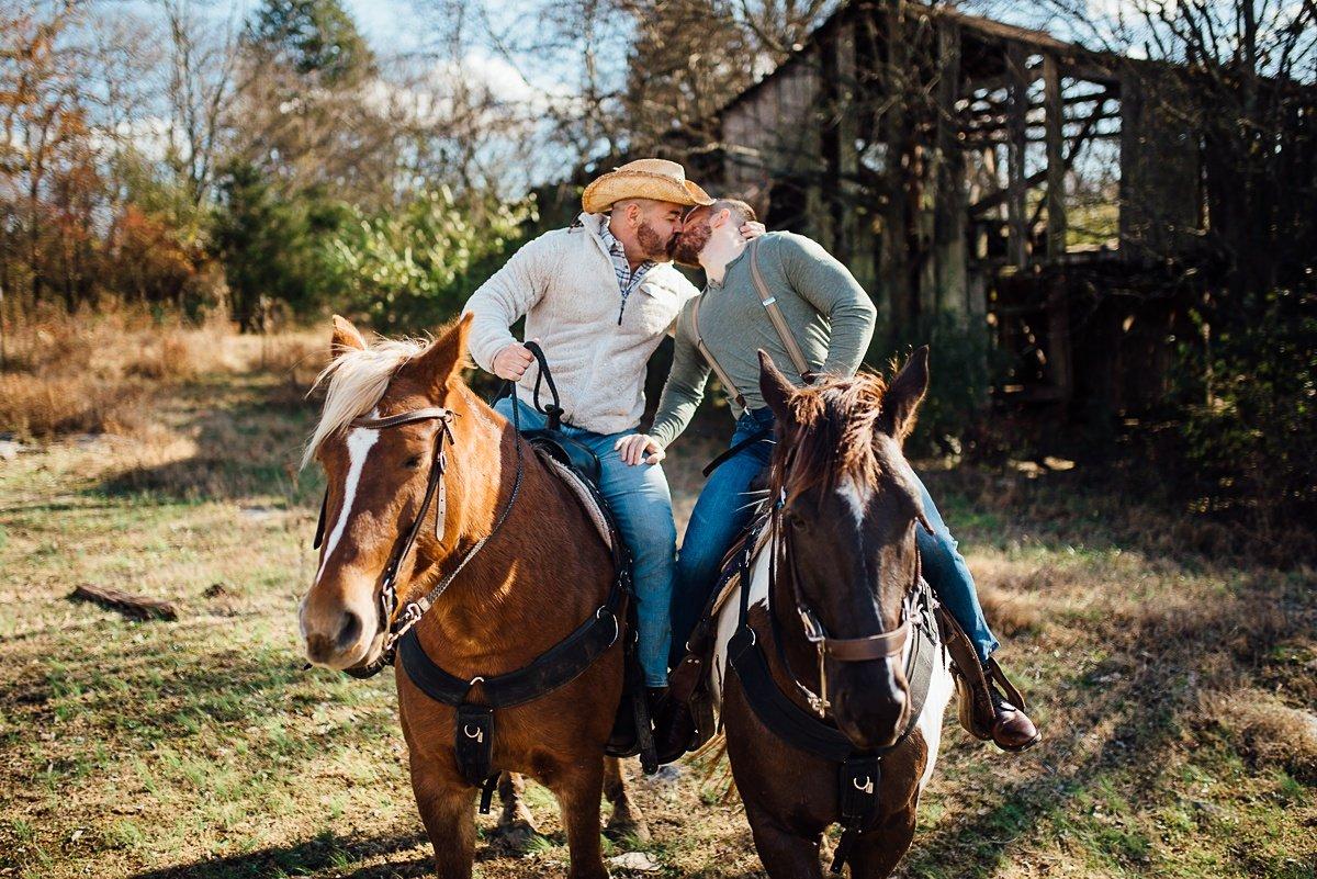nashville-gay-photographer-2 Horseback Engagement Session