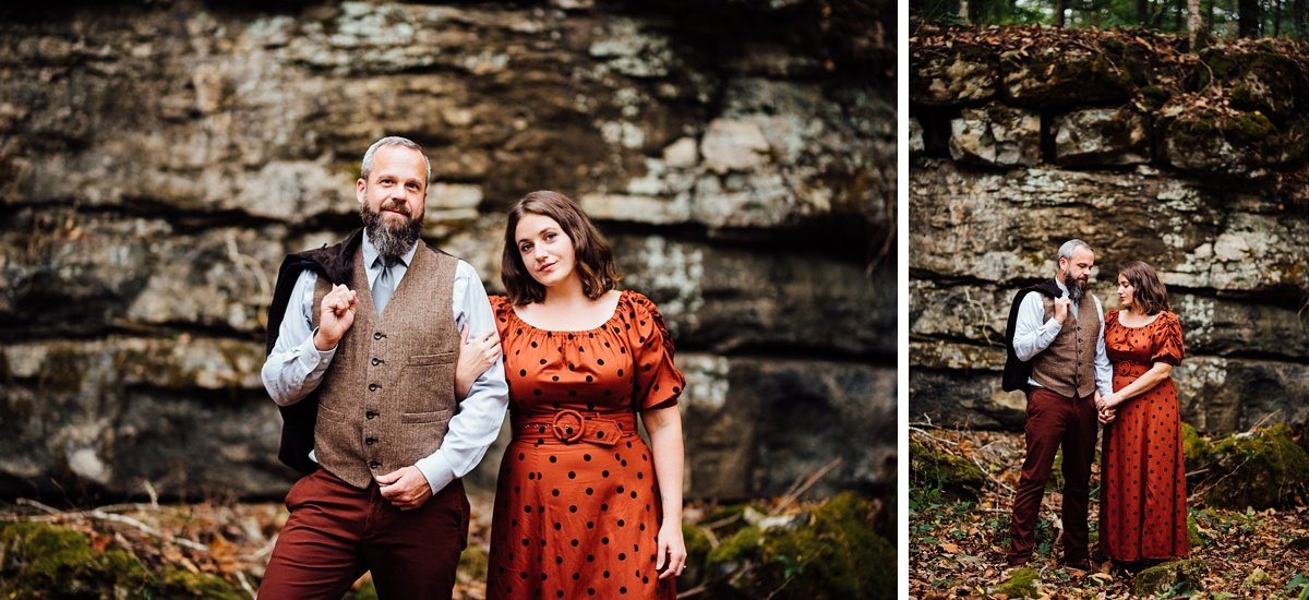 outdoors-engagement-session Woods and Waterfalls Engagement Session