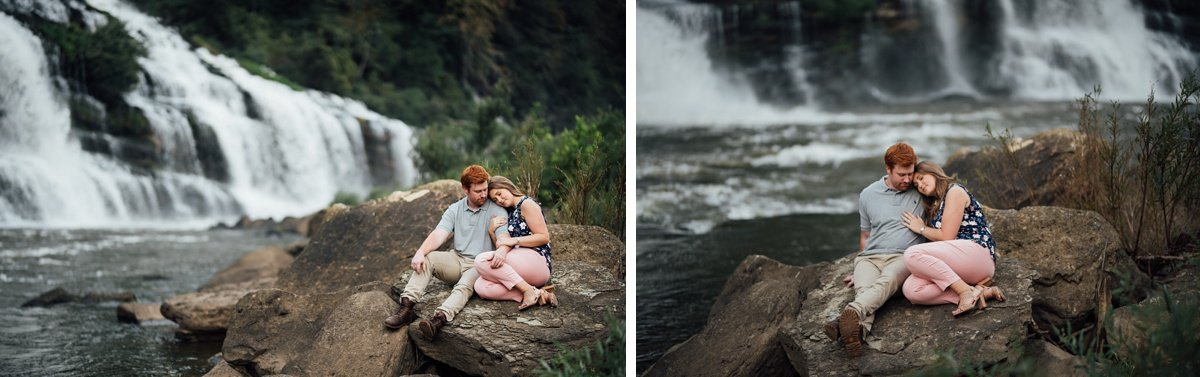 top-nashville-photographer Rock Island Waterfall Engagement Session