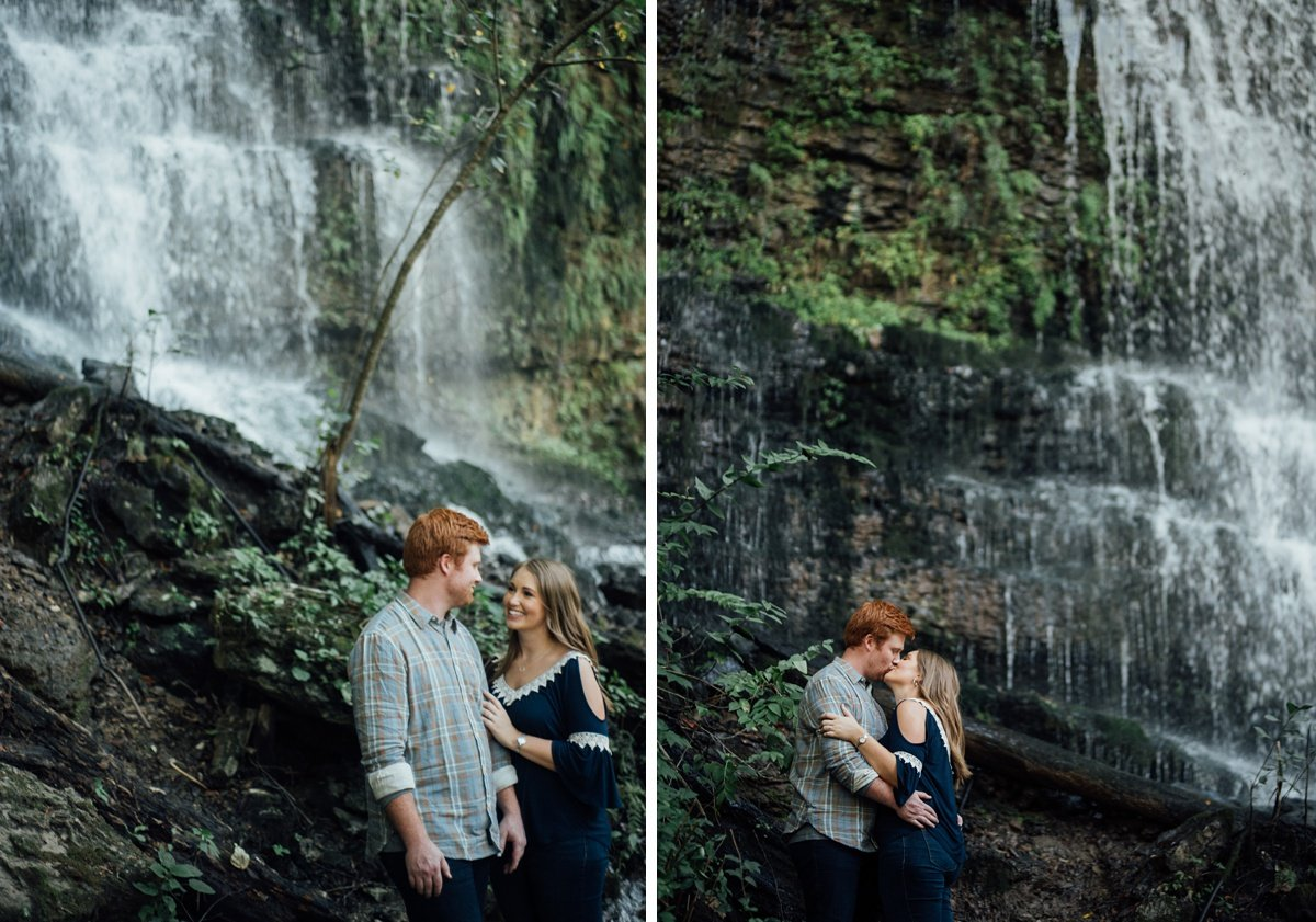 waterfall-backdrop Rock Island Waterfall Engagement Session