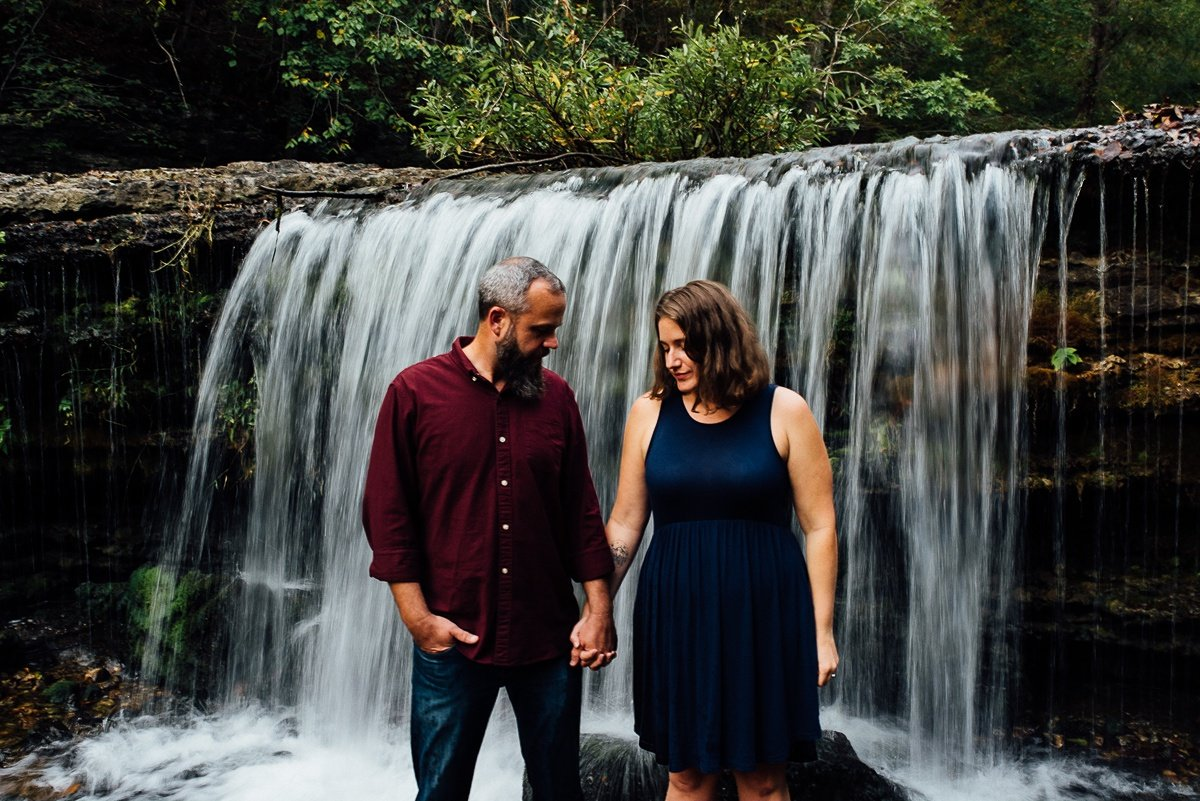waterfall-couple-photos Woods and Waterfalls Engagement Session