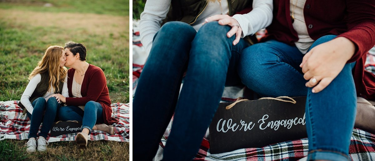 were-engaged-couple Hot Air Balloon Proposal