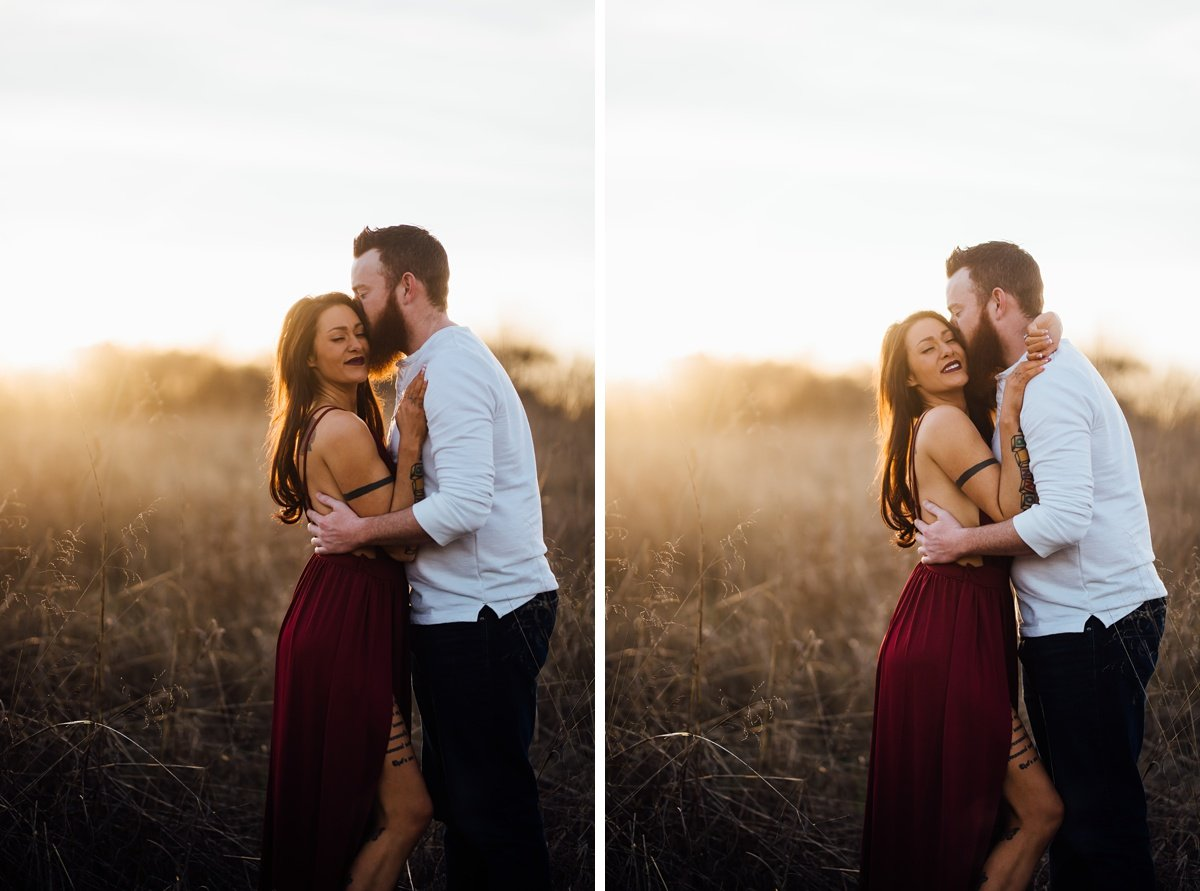 couple-nuzzling-at-sunset Nashville Couple Photography