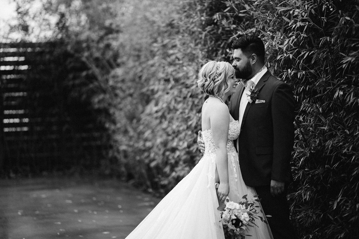 black-and-white-portrait White Avenue Studio Wedding | Katie + Ken