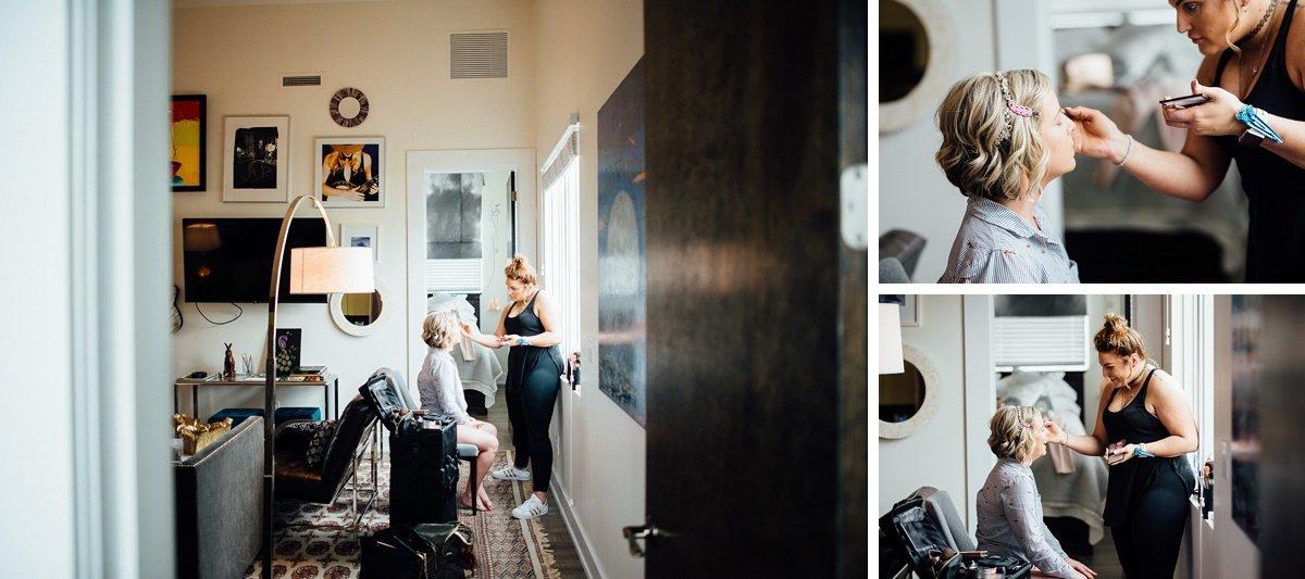 bridal-makeup White Avenue Studio Wedding   Katie + Ken