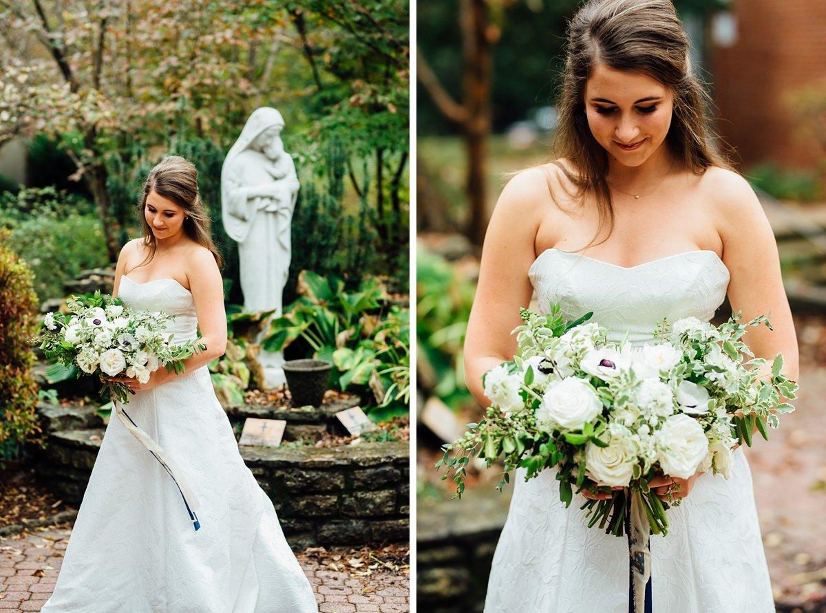 bride-at-christ-the-king Christ The King Wedding | Loveless Barn | Nina + Evan