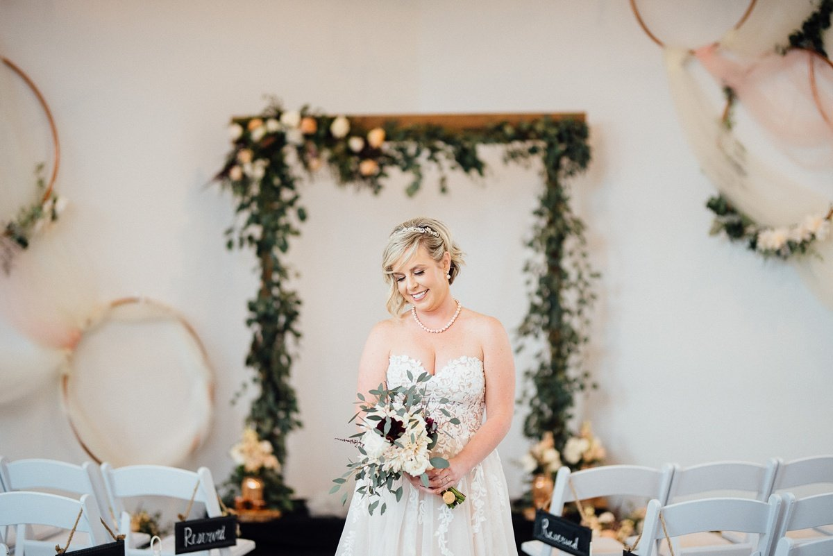 bride-flowers White Avenue Studio Wedding | Katie + Ken