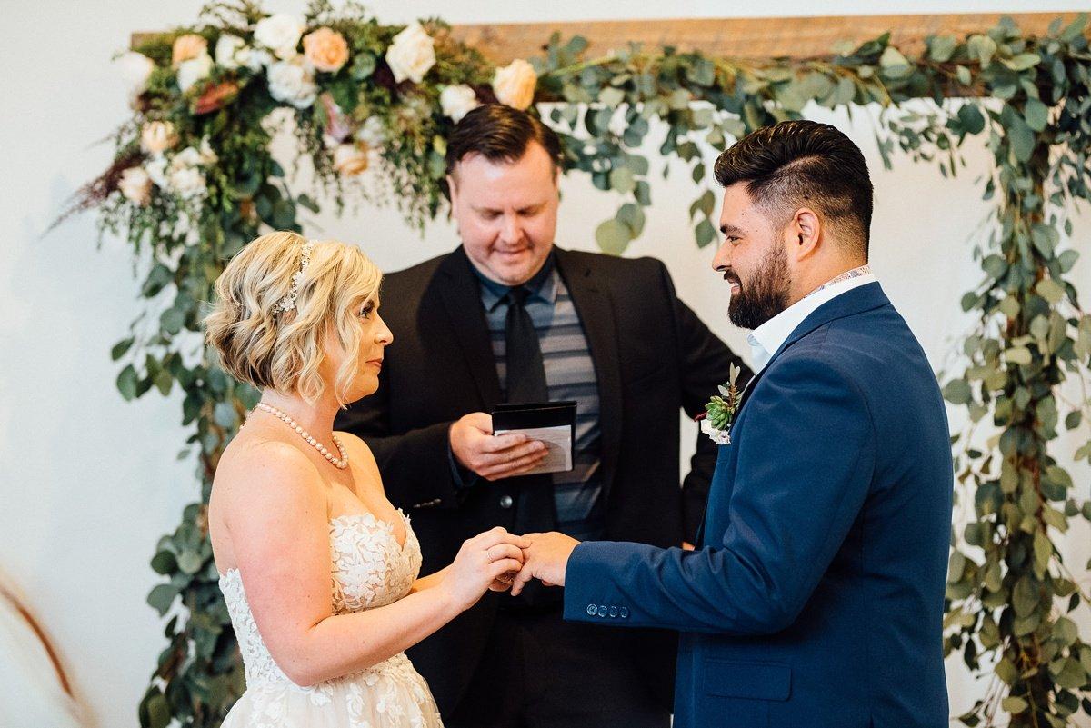 bride-groom White Avenue Studio Wedding   Katie + Ken