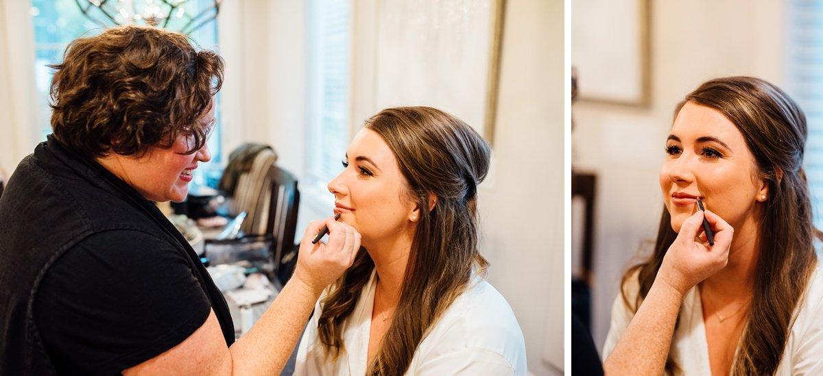 bride-makeup-details Christ The King Wedding | Loveless Barn | Nina + Evan