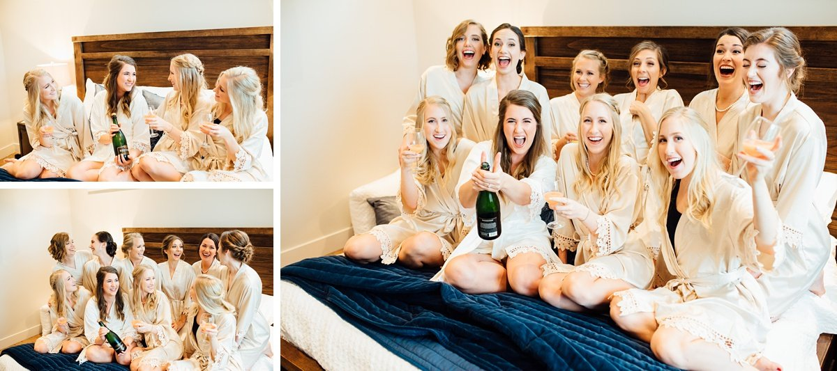 bride-with-champagne Christ The King Wedding | Loveless Barn | Nina + Evan
