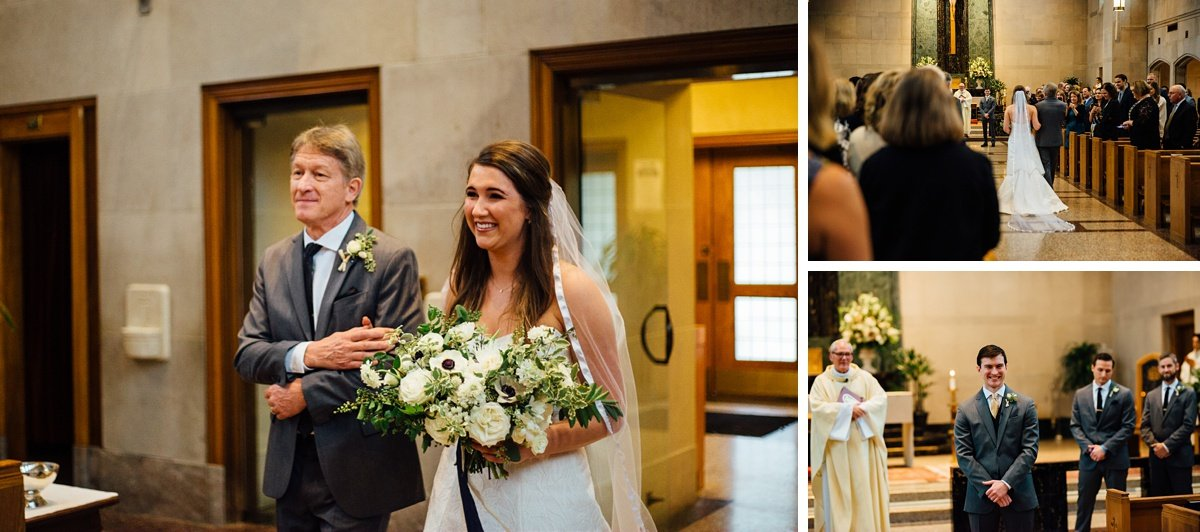bride-with-father Christ The King Wedding | Loveless Barn | Nina + Evan