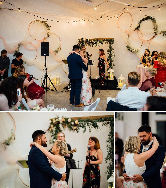 couple-dancing White Avenue Studio Wedding   Katie + Ken