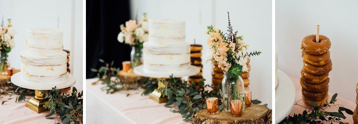 donut-wedding White Avenue Studio Wedding   Katie + Ken