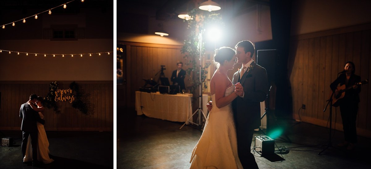 first-dance-dramatic Christ The King Wedding | Loveless Barn | Nina + Evan