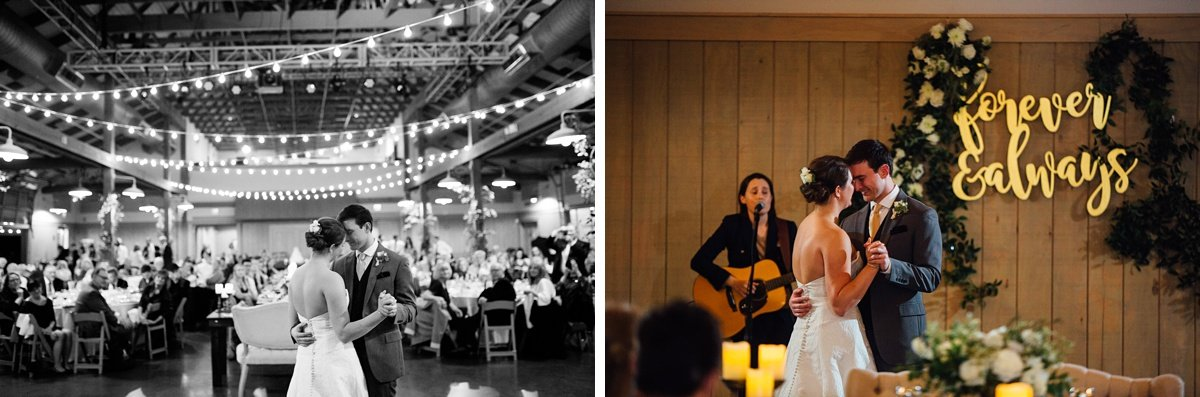 first-dance-with-live-music Christ The King Wedding | Loveless Barn | Nina + Evan