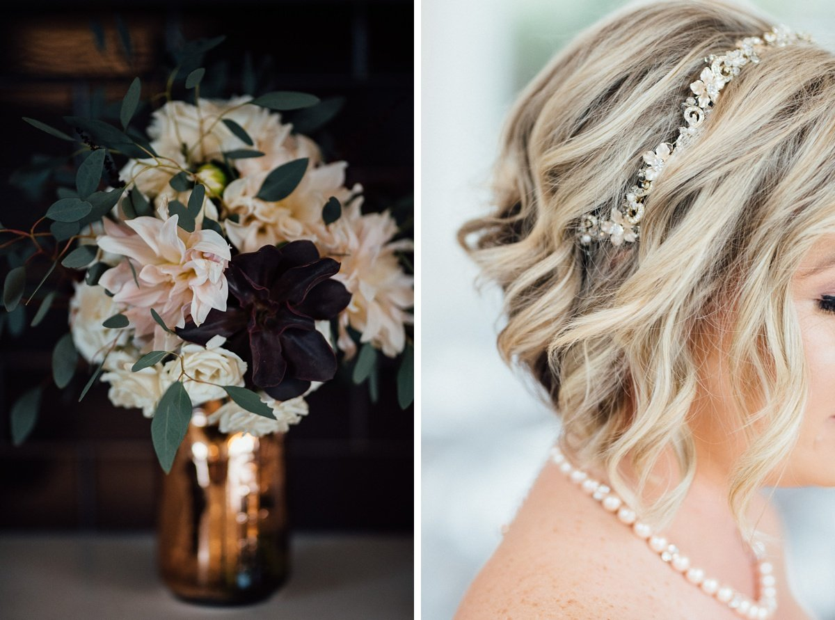 flowers-hair White Avenue Studio Wedding | Katie + Ken