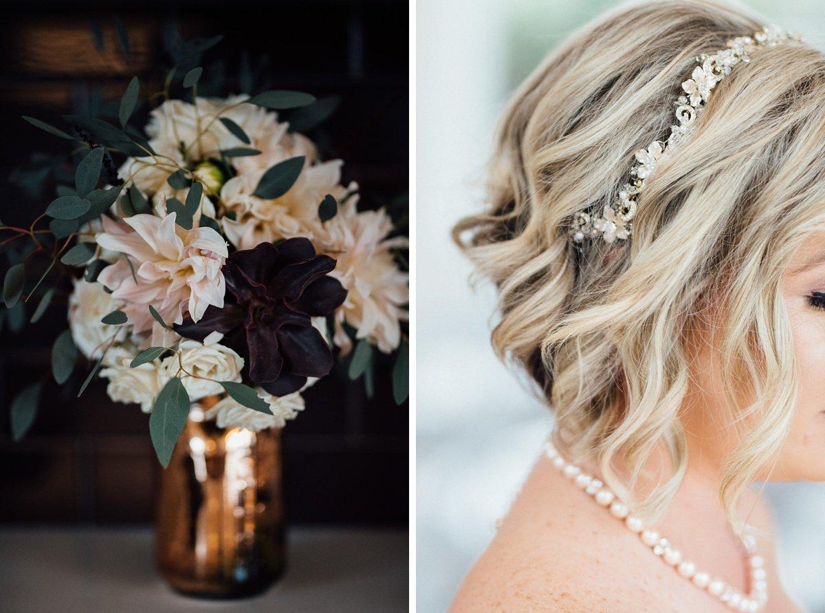 flowers-hair White Avenue Studio Wedding   Katie + Ken