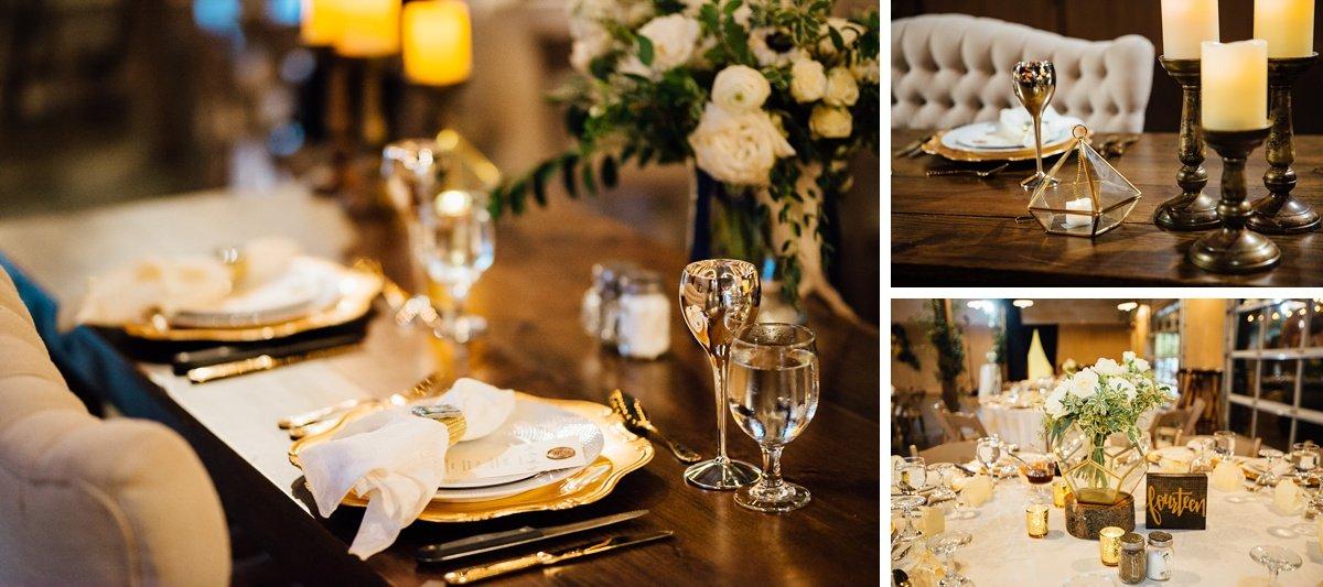 geometric-wedding-reception-details Christ The King Wedding | Loveless Barn | Nina + Evan