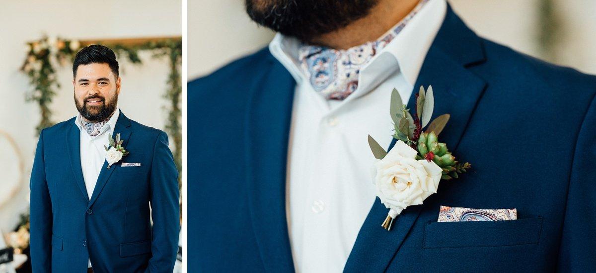 groom-detail White Avenue Studio Wedding   Katie + Ken