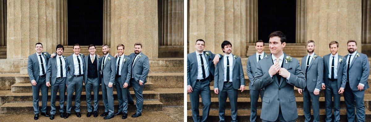 groomsmen-portrait Christ The King Wedding | Loveless Barn | Nina + Evan