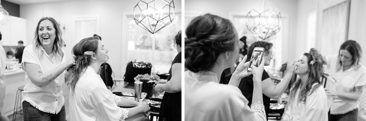 hair-and-makeup Christ The King Wedding | Loveless Barn | Nina + Evan