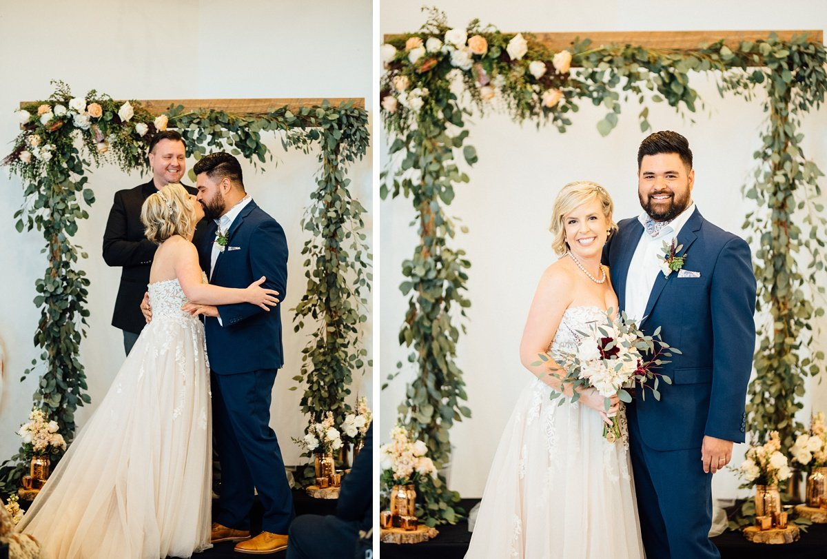 kiss-wedding White Avenue Studio Wedding | Katie + Ken
