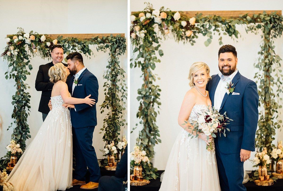 kiss-wedding White Avenue Studio Wedding   Katie + Ken