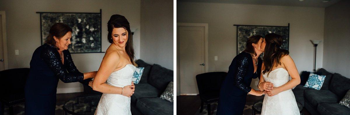 mom-daughter-dress Christ The King Wedding | Loveless Barn | Nina + Evan