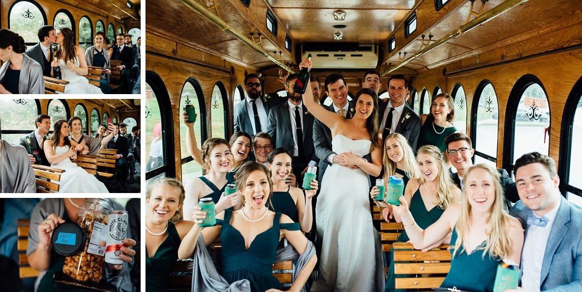 party-bus-wedding-nashville Christ The King Wedding | Loveless Barn | Nina + Evan